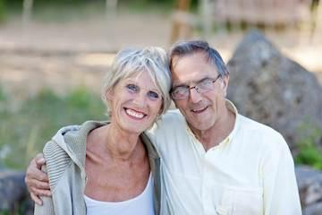 Older couple smiling | Dentures Aston PA