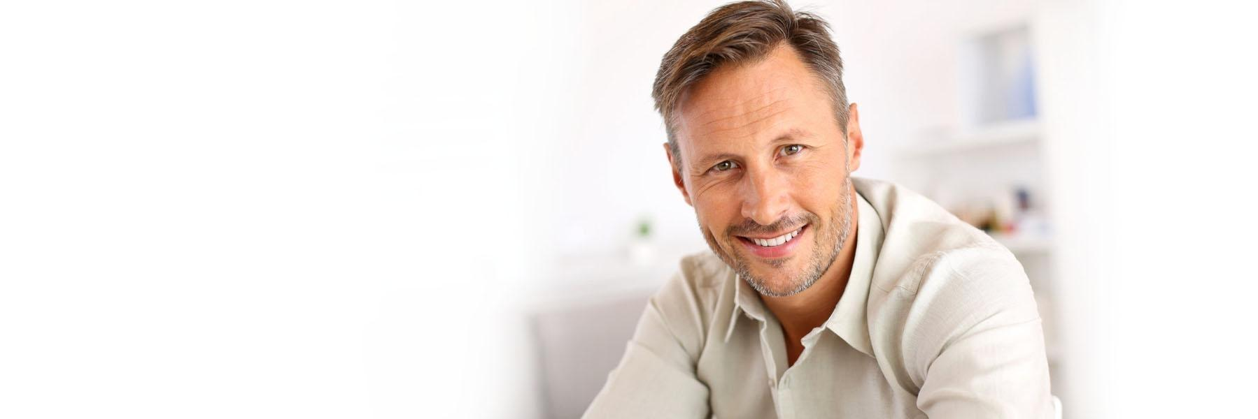 Man wearing dentures | Aston PA Dentist