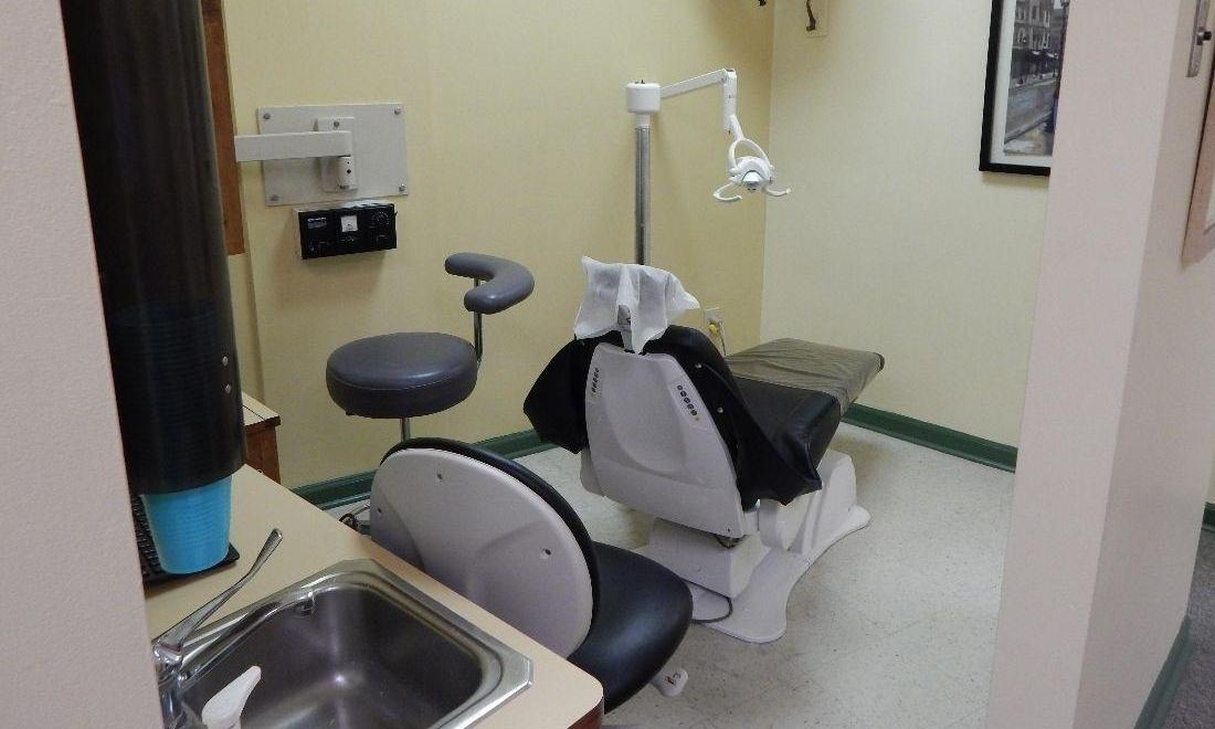 Patient treatment chair at Aston PA dentist Office