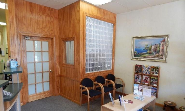 Dental patient waiting area at 19014 dentist office